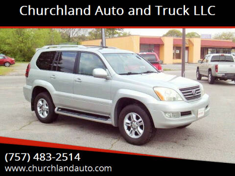 2003 Lexus GX 470 for sale at Churchland Auto and Truck LLC in Portsmouth VA