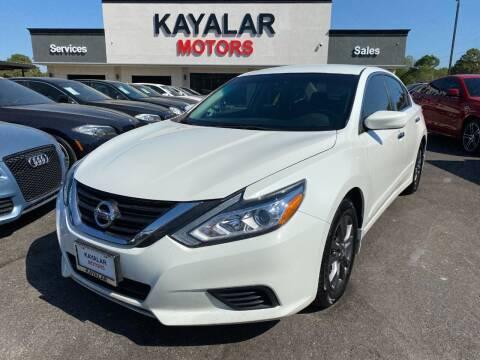 2017 Nissan Altima for sale at KAYALAR MOTORS in Houston TX
