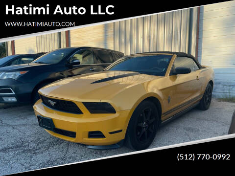 2012 Ford Mustang for sale at Hatimi Auto LLC in Austin TX