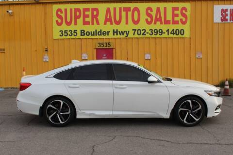 2018 Honda Accord for sale at Super Auto Sales in Las Vegas NV