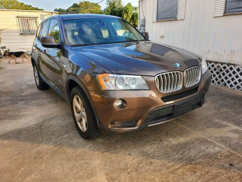 2012 BMW X3 for sale at Zora Motors in Houston TX