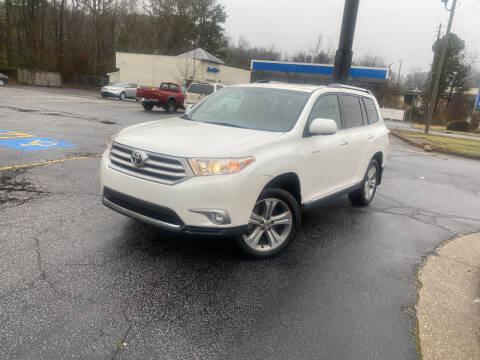 2013 Toyota Highlander for sale at BRAVA AUTO BROKERS LLC in Clarkston GA