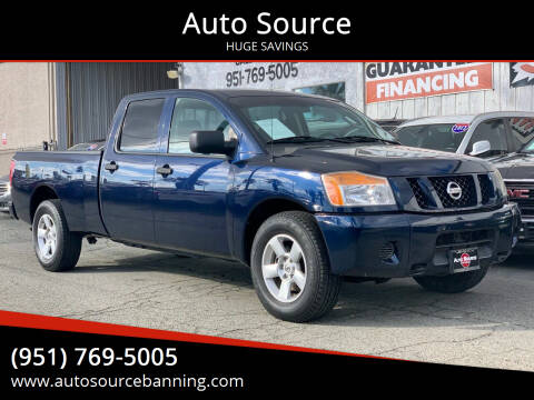 2008 Nissan Titan for sale at Auto Source in Banning CA