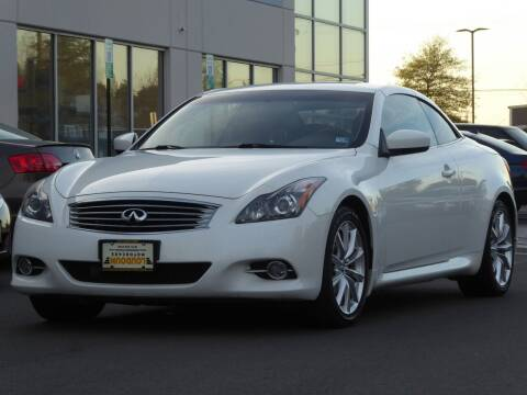 2012 Infiniti G37 Convertible for sale at Loudoun Used Cars - LOUDOUN MOTOR CARS in Chantilly VA