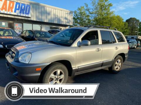 2005 Hyundai Santa Fe for sale at Carpro Auto Sales in Chesapeake VA