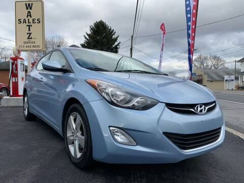 2012 Hyundai Elantra for sale at Waltz Sales LLC in Gap PA