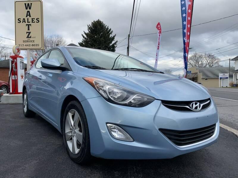 2012 Hyundai Elantra for sale at Waltz Sales LLC in Gap PA