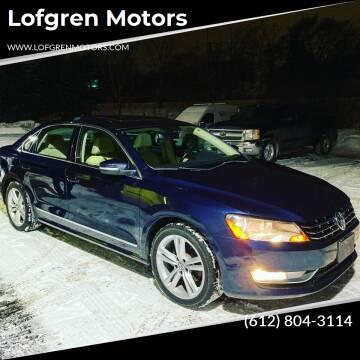 2013 Volkswagen Passat for sale at Lofgren Motors in Wayzata MN