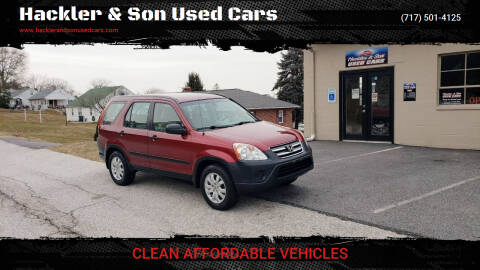 2006 Honda CR-V for sale at Hackler & Son Used Cars in Red Lion PA