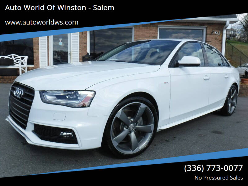 2014 Audi A4 for sale at Auto World Of Winston - Salem in Winston Salem NC