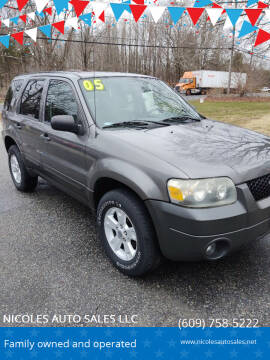 2005 Ford Escape for sale at NICOLES AUTO SALES LLC in Cream Ridge NJ