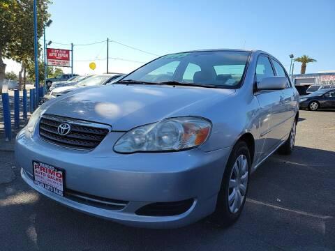 2006 Toyota Corolla for sale at Primo Auto Sales in Merced CA
