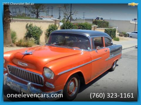 1955 Chevrolet Bel Air for sale at One Eleven Vintage Cars in Palm Springs CA