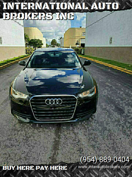 2013 Audi A6 for sale at INTERNATIONAL AUTO BROKERS INC in Hollywood FL