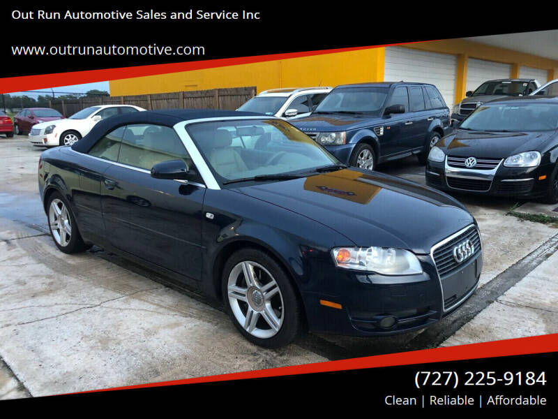 2008 Audi A4 for sale at Out Run Automotive Sales and Service Inc in Tampa FL