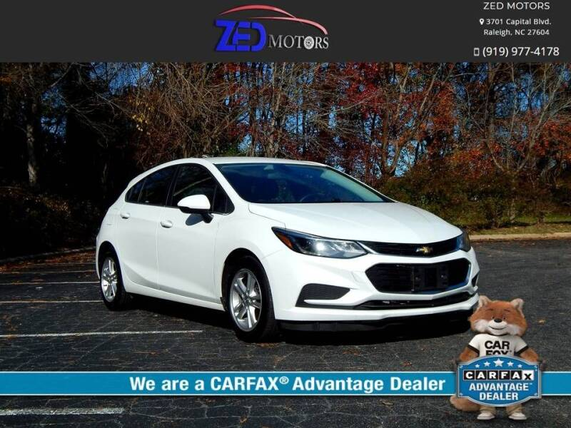 2017 Chevrolet Cruze for sale at Zed Motors in Raleigh NC