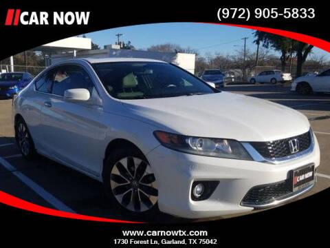 2014 Honda Accord for sale at Car Now Dallas in Dallas TX