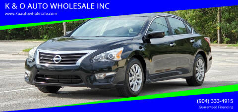 2013 Nissan Altima for sale at K & O AUTO WHOLESALE INC in Jacksonville FL