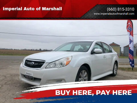 2012 Subaru Legacy for sale at Imperial Auto of Marshall - Imperial Auto Of Slater in Slater MO