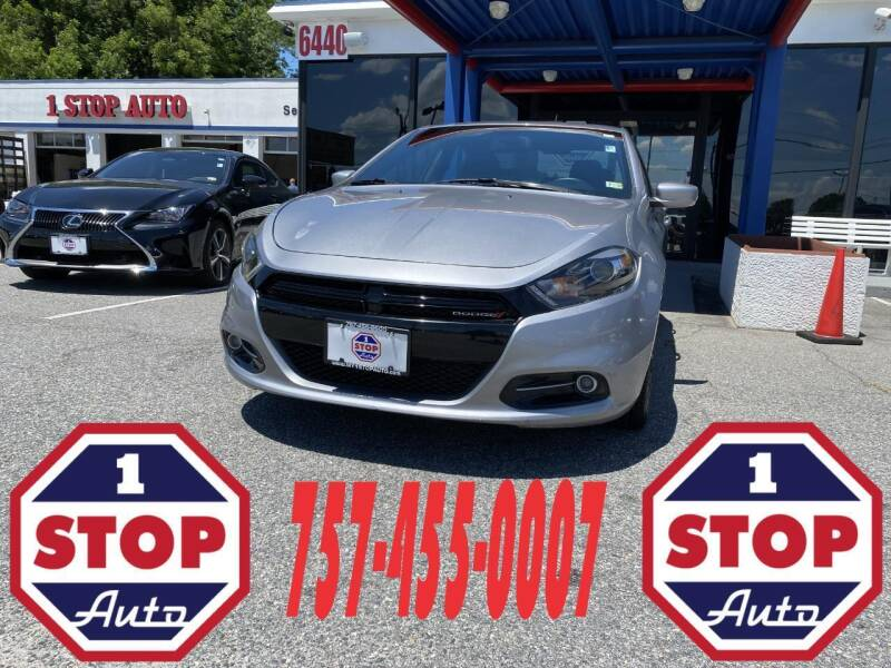 2016 Dodge Dart for sale at 1 Stop Auto in Norfolk VA
