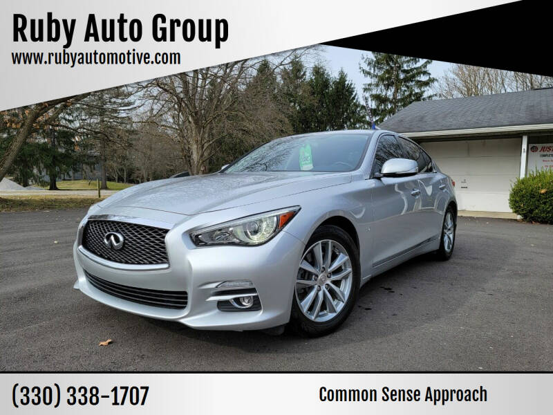 2015 Infiniti Q50 for sale at Ruby Auto Group in Hudson OH