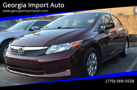 2012 Honda Civic for sale at Georgia Import Auto in Alpharetta GA