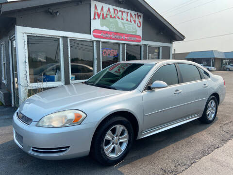 2013 Chevrolet Impala for sale at Martins Auto Sales in Shelbyville KY