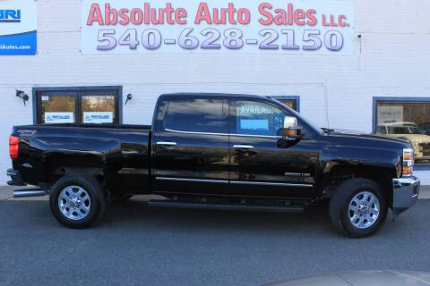 2015 Chevrolet Silverado 2500HD for sale at Absolute Auto Sales in Fredericksburg VA