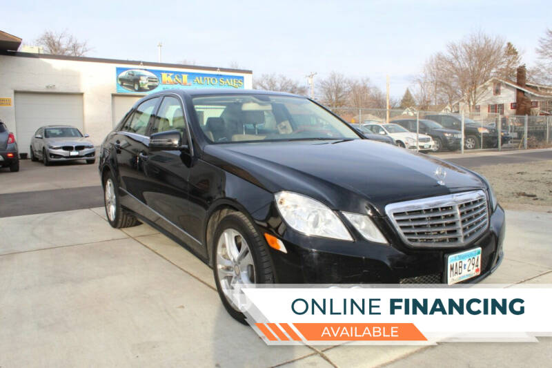 2011 Mercedes-Benz E-Class for sale at K & L Auto Sales in Saint Paul MN