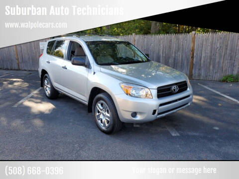 2008 Toyota RAV4 for sale at Suburban Auto Technicians LLC in Walpole MA