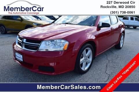 2013 Dodge Avenger for sale at MemberCar in Rockville MD