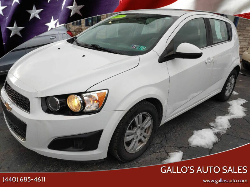 2016 Chevrolet Sonic for sale at Gallo's Auto Sales in North Bloomfield OH