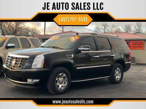 2008 Cadillac Escalade for sale at JE AUTO SALES LLC in Webb City MO