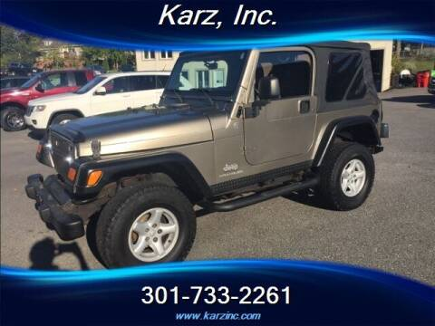 2005 Jeep Wrangler for sale at Karz INC in Funkstown MD