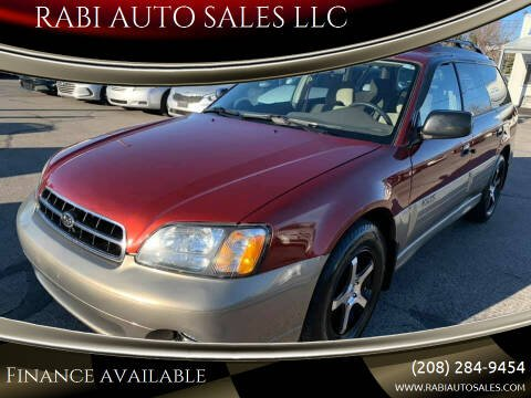 2002 Subaru Outback for sale at RABI AUTO SALES LLC in Garden City ID