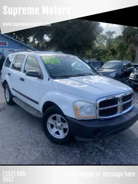 2006 Dodge Durango for sale at Supreme Motors in Tavares FL