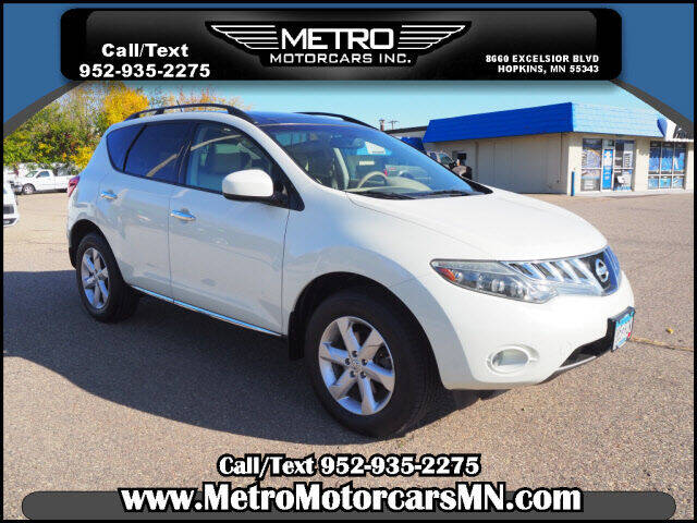 2009 Nissan Murano for sale at Metro Motorcars Inc in Hopkins MN