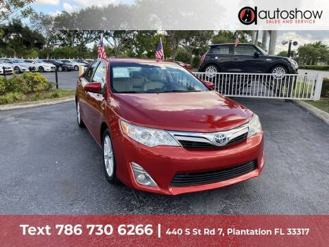 2013 Toyota Camry Hybrid for sale at AUTOSHOW SALES & SERVICE in Plantation FL