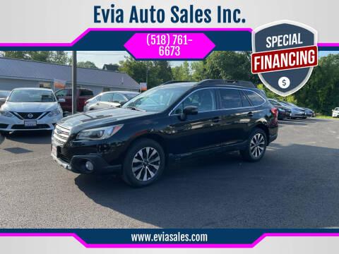 2016 Subaru Outback for sale at Evia Auto Sales Inc. in Glens Falls NY