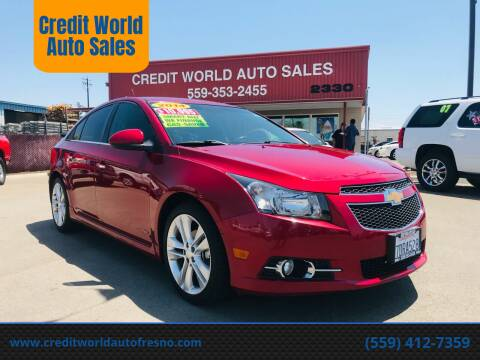 2014 Chevrolet Cruze for sale at Credit World Auto Sales in Fresno CA