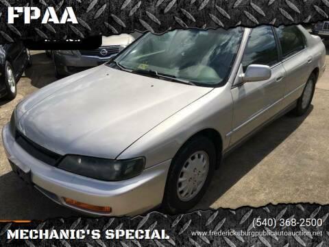1997 Honda Accord for sale at FPAA in Fredericksburg VA