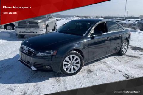 2012 Audi A4 for sale at Klean Motorsports in Skokie IL
