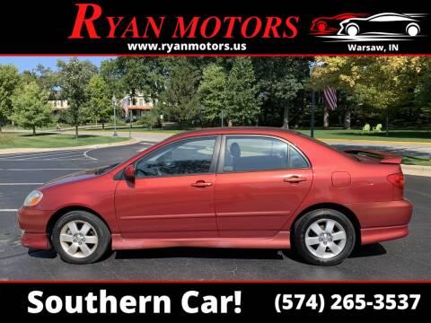2003 Toyota Corolla for sale at Ryan Motors LLC in Warsaw IN