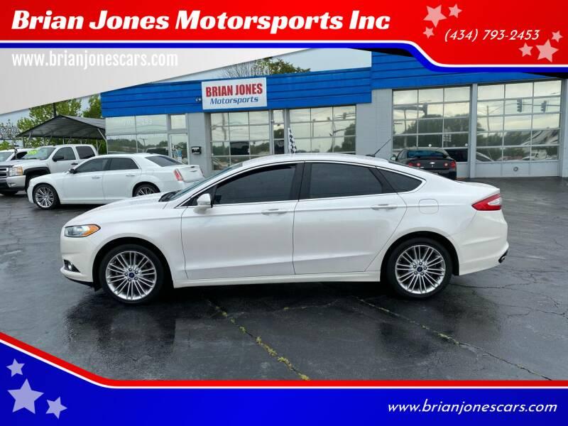2016 Ford Fusion for sale at Brian Jones Motorsports Inc in Danville VA