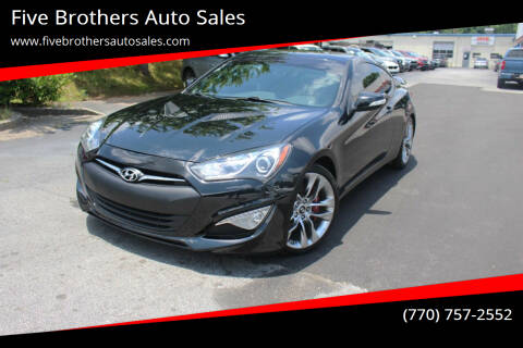 2014 Hyundai Genesis Coupe for sale at Five Brothers Auto Sales in Roswell GA
