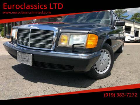 1987 Mercedes-Benz 560-Class for sale at Euroclassics LTD in Durham NC