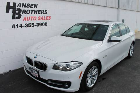 2016 BMW 5 Series for sale at HANSEN BROTHERS AUTO SALES in Milwaukee WI