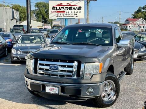 2011 Ford F-150 for sale at Supreme Auto Sales in Chesapeake VA