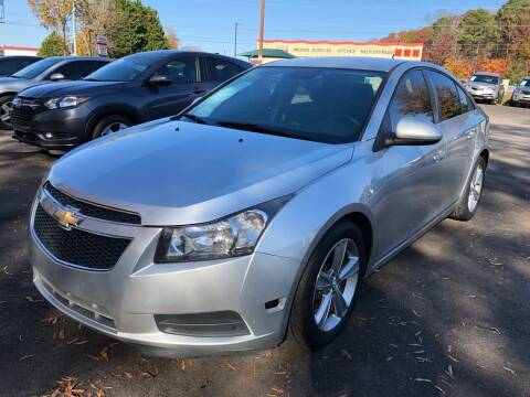 2014 Chevrolet Cruze for sale at Atlantic Auto Sales in Garner NC