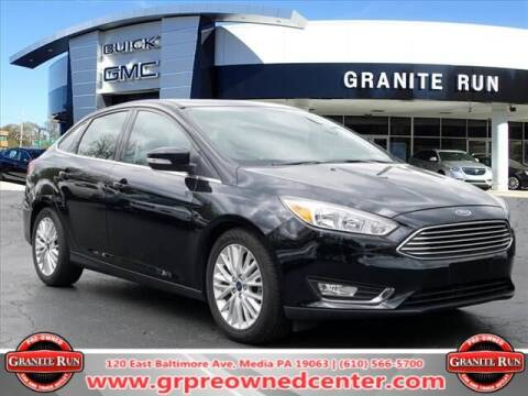 2018 Ford Focus for sale at GRANITE RUN PRE OWNED CAR AND TRUCK OUTLET in Media PA